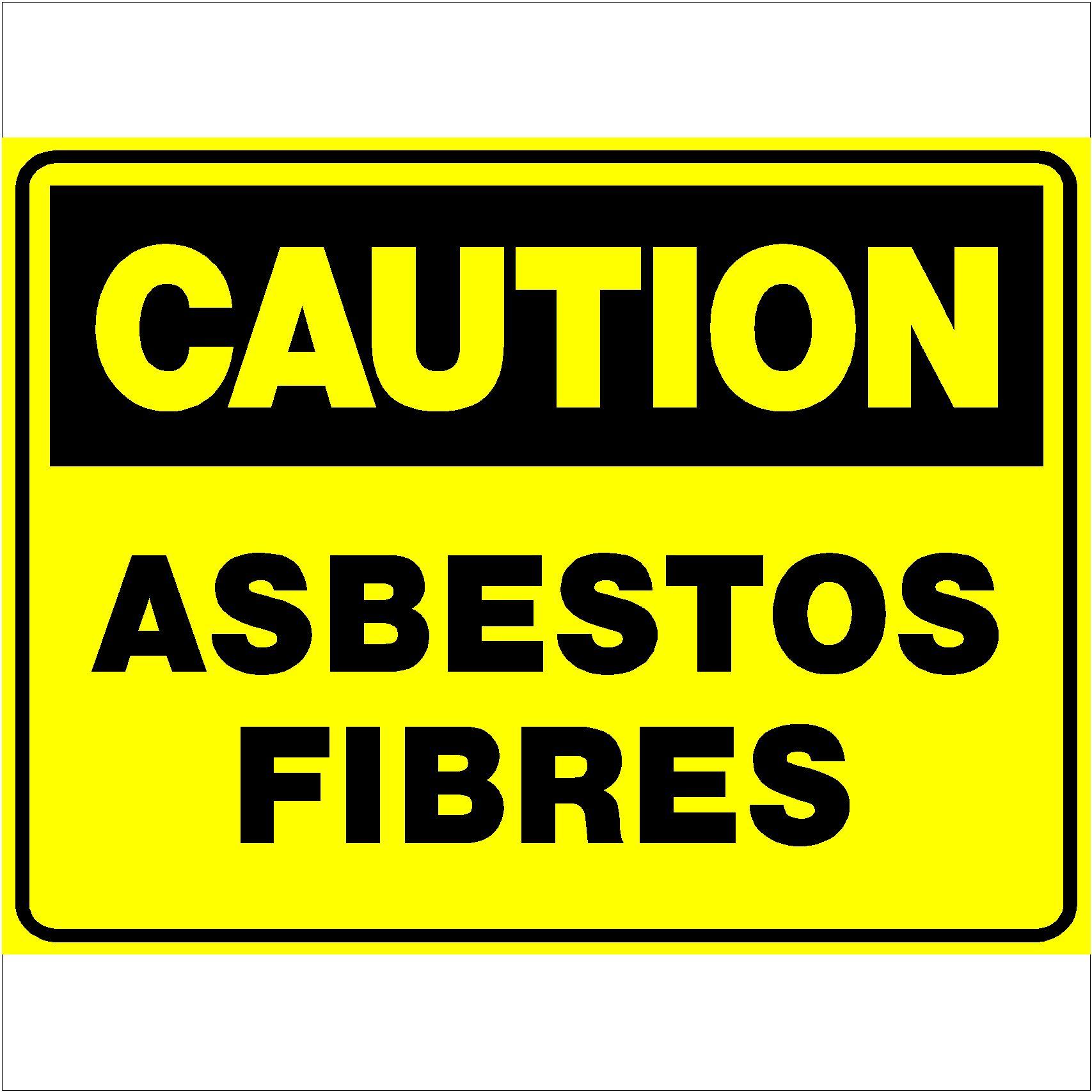 Caution Asbestos Fibers