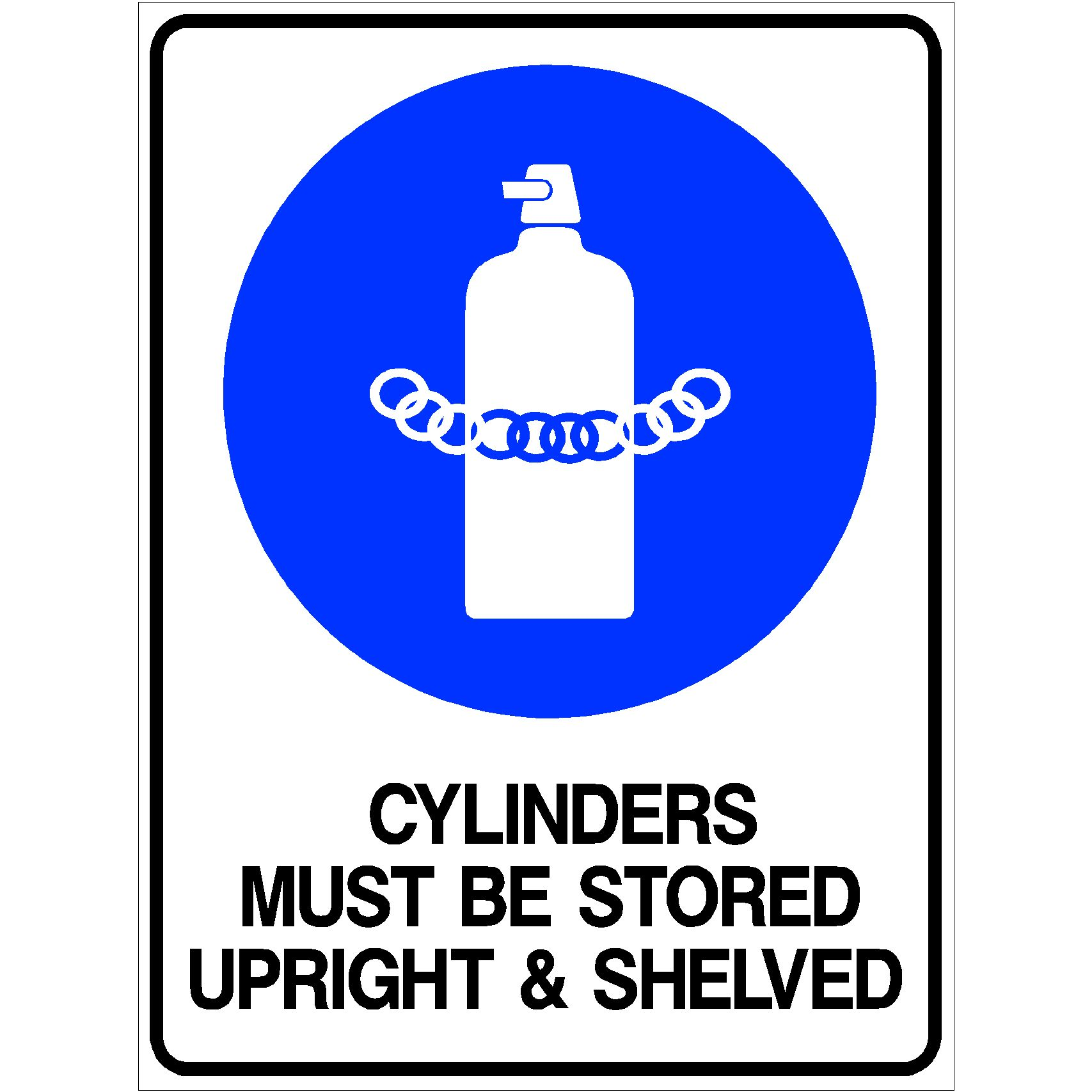 Cylinders Must Be Stored Upright