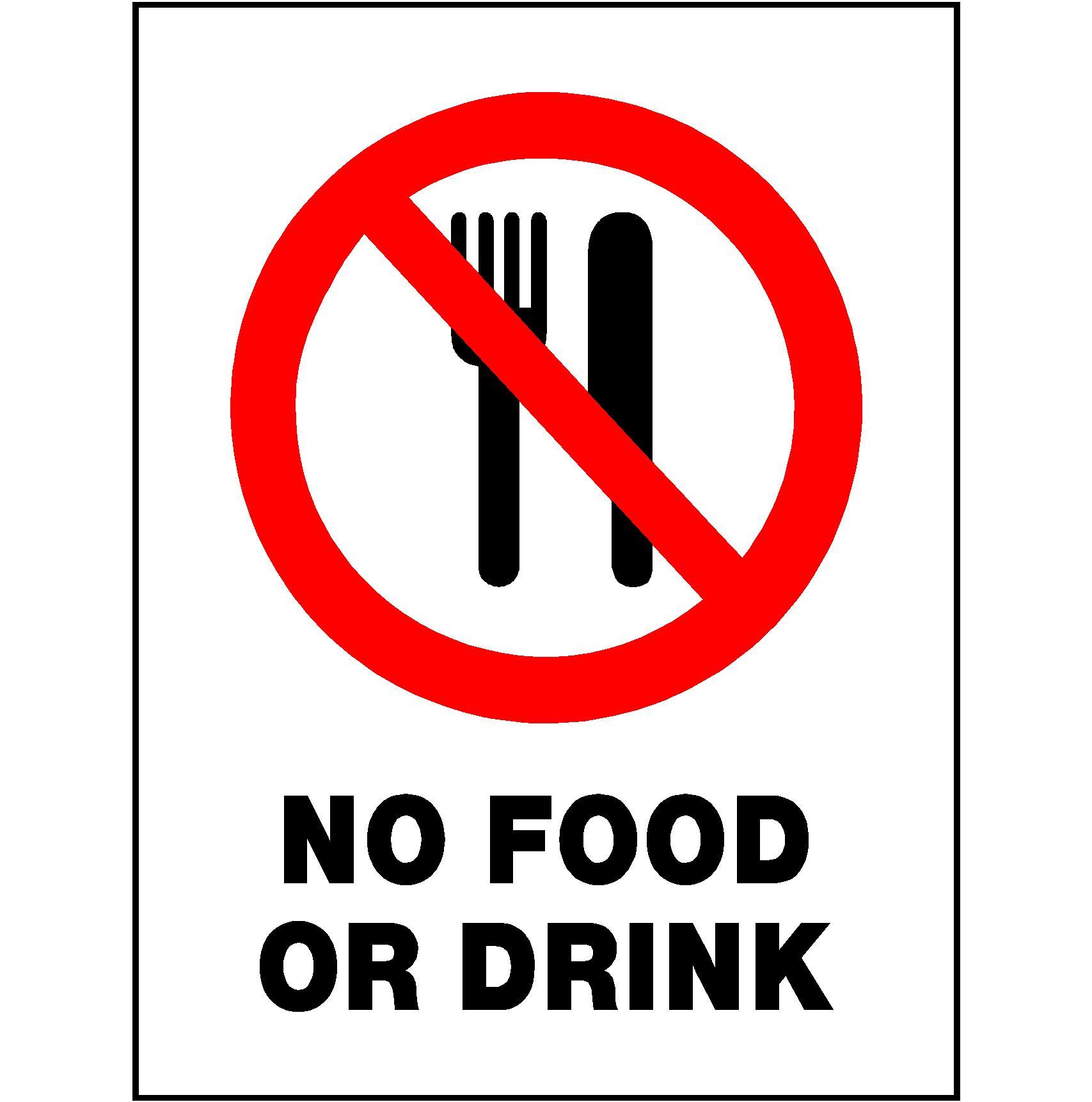 No Food Signs Free